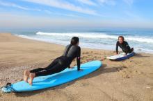 Leçon de surf à El Porto à Manhattan Beach